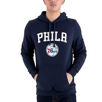 New Era Fleece Hoody - NBA Philadelphia 76ers navy