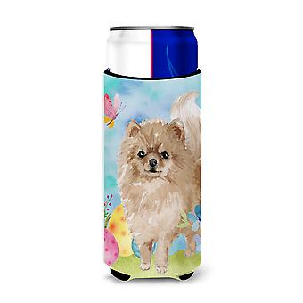 Pomeranian Easter Michelob Ultra Hugger for slim cans
