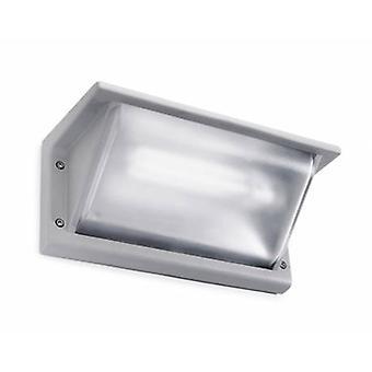 1 Light Outdoor Small Wall Light Grey Ip65