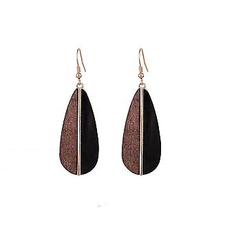 Jewelcity Sunkissed Womens/Ladies Wood Teardrop Earrings