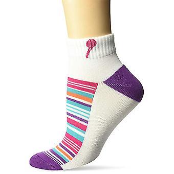 Women's Crew Socks - K Bell - Variegated StripeWhite (9-11)
