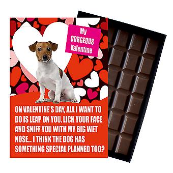 Jack Russell Gift for Valentines Day Presents For Dog Lovers Boxed Chocolate