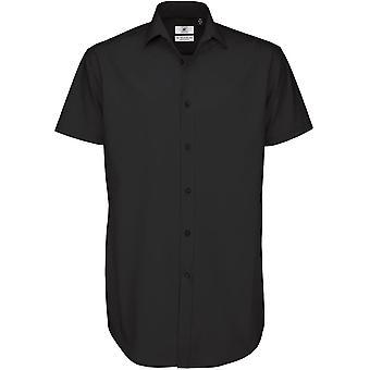 B&C Collection - B&C Black Tie Ssl Mens Shirt - Workwear Business Corporate