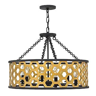 Elstead - 6 Light Pendant - Gold Finish - HK/FELIX/6P