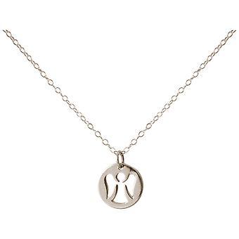 Gemshine Halskette Anhänger Engel Schutzengel 925 Silber oder Vergoldet 1,3 cm
