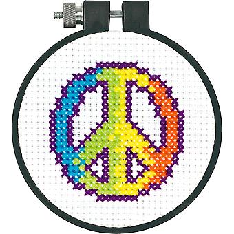 Learn A Craft Rainbow Peace Counted Cross Stitch Kit 3