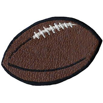 Wrights Iron On Appliques Brown Leather Football 2