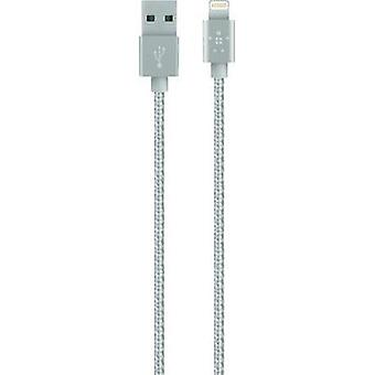 iPad/iPhone/iPod cable de datos/cargador plomo [x USB 2.0 1 conector A - 1 x Apple Dock relámpago enchufe] 1,20 m plata Belkin