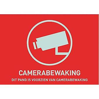 Warning label CCTV Languages Dutch (W x H) 74 mm x 53 mm