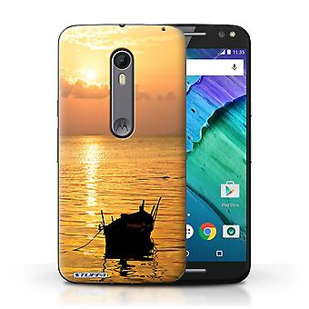 STUFF4 Case/Cover for Motorola Moto X Style/Fishing Boat/Sunset Scenery