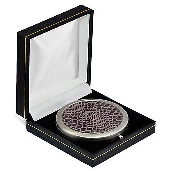 Snake Print Compact Mirror