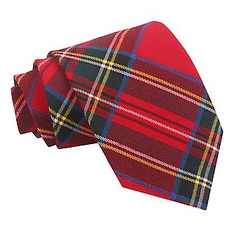 Red Royal Stewart Tartan Tie
