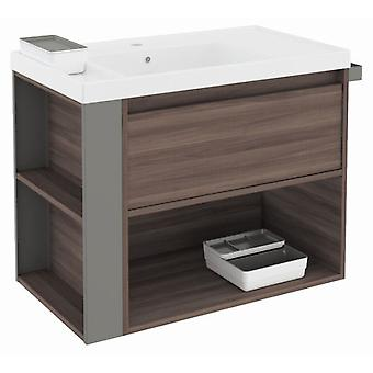Bath+ 1 Drawer Cabinet + Shelf With Resin Basin Fresno-Grey 80CM