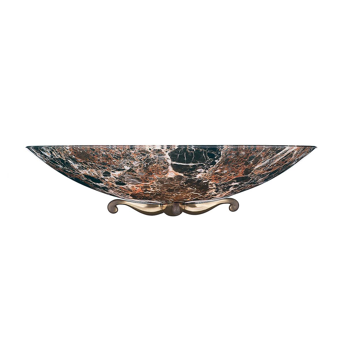 David Hunt MG28 Savoy Wall Washer In Bronze With Dark Marble Glass