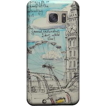 Cape London pencil drawing for Galaxy S6