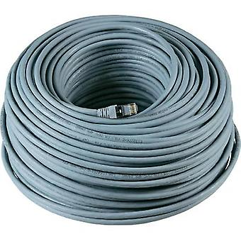 RJ49 Networks Cable CAT 6A S/FTP 90 m Grey UL-approved, Flame-retardant, incl. detent EFB Elektronik