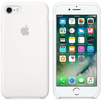 Apple Silicon Micro Fiber cover case for iPhone 7 - white