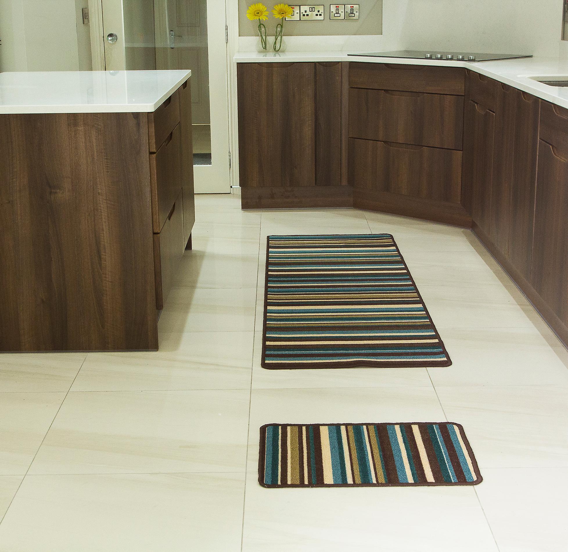 petrol blau flur l ufer teppich luna fruugo. Black Bedroom Furniture Sets. Home Design Ideas