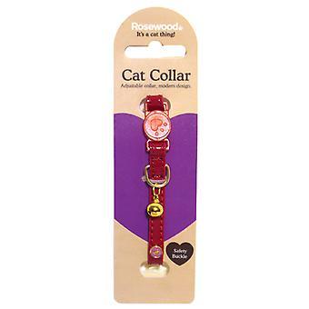 Catwalk Designer Cat Collar Cherry (Pack of 3)