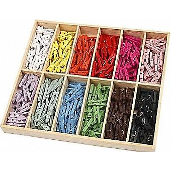288 Bright Colour Mini Wooden Clothes Pegs | Wooden Shapes for Crafts