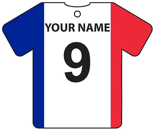 Personalised France Flag Jersey Car Air Freshener