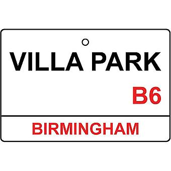 Aston Villa / Villa Park Street Sign Car Air Freshener
