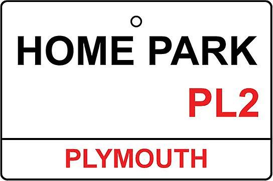 Plymouth Argyle / Home Park Street Sign Car Air Freshener