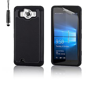 Shock proof case + penna för Microsoft Lumia 950 - svart