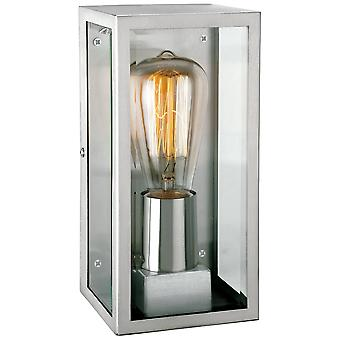 Firstlight Antique Stainless Steel Glass Rectangle Wall Lantern
