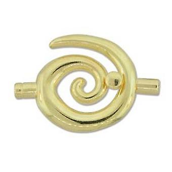 Beadsmith 34x35mm grote Swirl lijm In Toggle - 3.2mm - verguld - 1pk