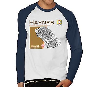 Haynes Owners Workshop Manual 0375 Ford Capri II V6 Men's Baseball Long Sleeved T-Shirt