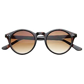 Vintage Inspired Small Round Circle Key Hole Retro P3 Sunglasses with Rivets