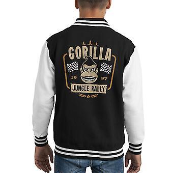 Rally di giungla gorilla Donkey Kong Racing Varsity Jacket capretto