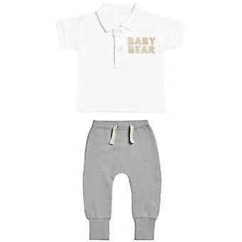Spoilt Rotten Baby Bear Baby Polo T-Shirt & Joggers Outfit Set