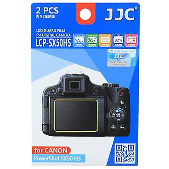 JJC Guard Film Crystal Clear Screen Protector for Canon PowerShot SX50 HS - no cutting (2 Film Pack)