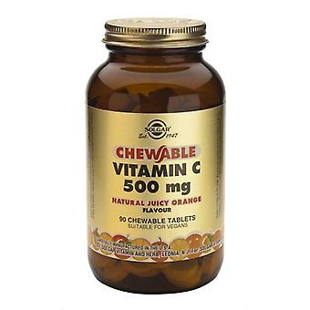 Solgar Vitamin C 500 mg Chewable 90 Tablets - Juicy Orange Flavor