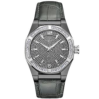 JBW men's diamond watch with Swarovski Crystals black grey