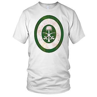 Saudi Air Force Roundel Grunge Effect Mens T Shirt