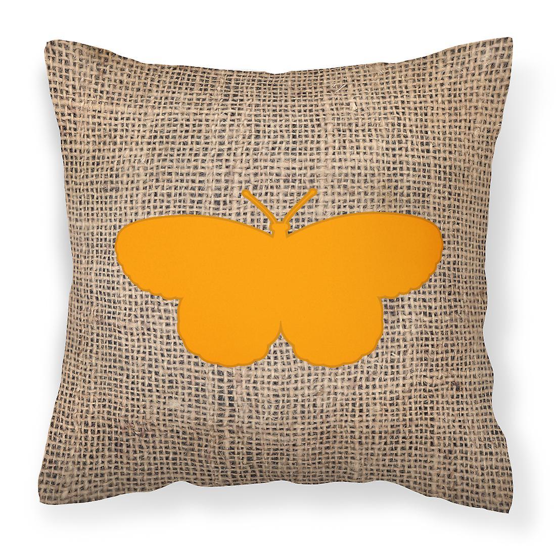 Et Tissu Jute Bb1052 Papillon Décoratif Toile De Orange Oreiller hsQrdt