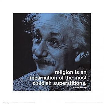 Albert Einstein - iPhilosophy Religion Plakat Poster Print