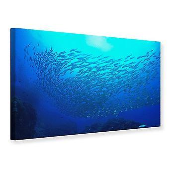 Mundo de peixes impressão de lona