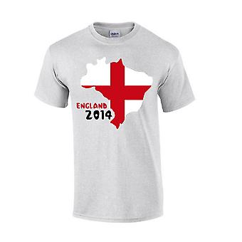 England 2014 land Flag T-shirt (grå)