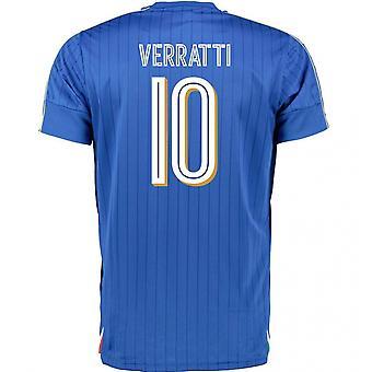 2016-2017 Italy Puma Home Shirt (Verratti 10)