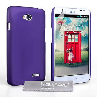 Yousave Zubehör LG L90 harte Hybrid Case - lila