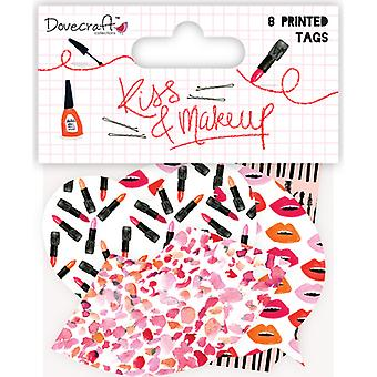 Dovecraft Kiss & Make Up Cardstock Tags 8/Pkg- DCTOP059