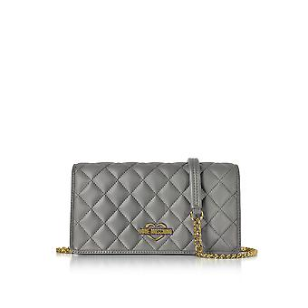 Love Moschino ladies JC4011PP15LB0001 grey leather clutch