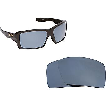 Eyepatch 1 Replacement Lenses Polarized Silver by SEEK fits OAKLEY Sunglasses