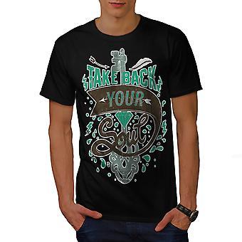 Terugnemen van ziel Slogan mannen gekleedinzwartet-shirt | Wellcoda
