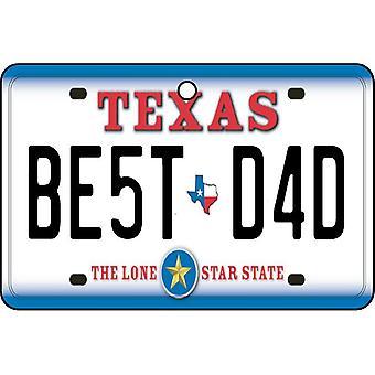 Texas - Best Dad License Plate Car Air Freshener