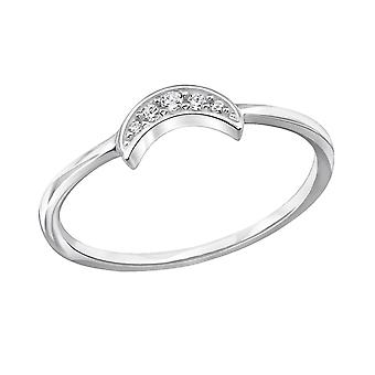 Moon - 925 Sterling Silver Jewelled Rings - W29246x
